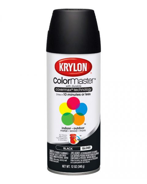 Krylon Spray Secado Rapido Negro Brill