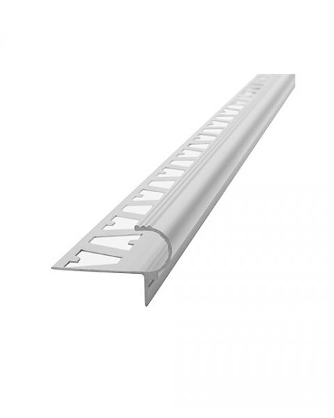 Atrim Step Decorativo 10x9mm x 2.5m Aluminio Cromo Mate Cód. 3443
