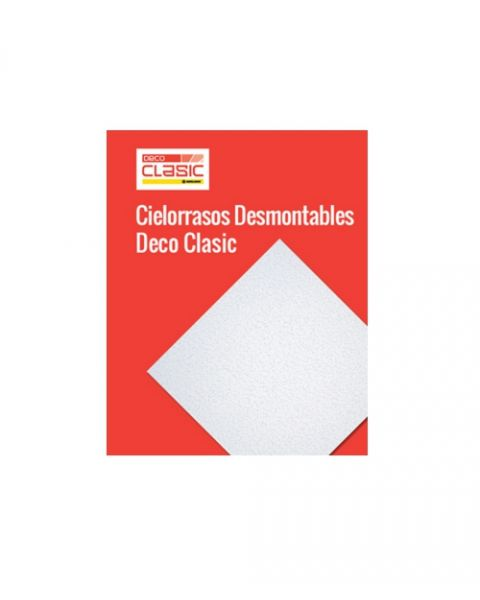 Placa Cielorraso Desmontable Deco Clasic Borde Recto 60X60cm Pintada Lisa