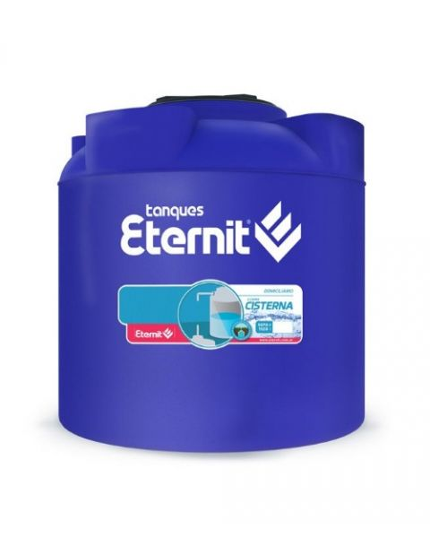 Eternit Tanque Cisterna Tricapa 850 lts Azul