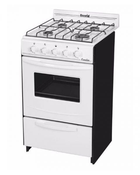Cocina Escorial Candor 50 cm Blanca Gas Natural