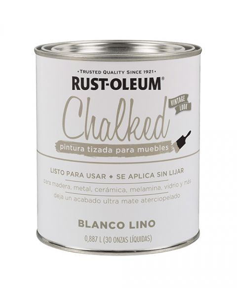 Rust-Oleum Chalked Brochable Blanco Lino 0,887 L