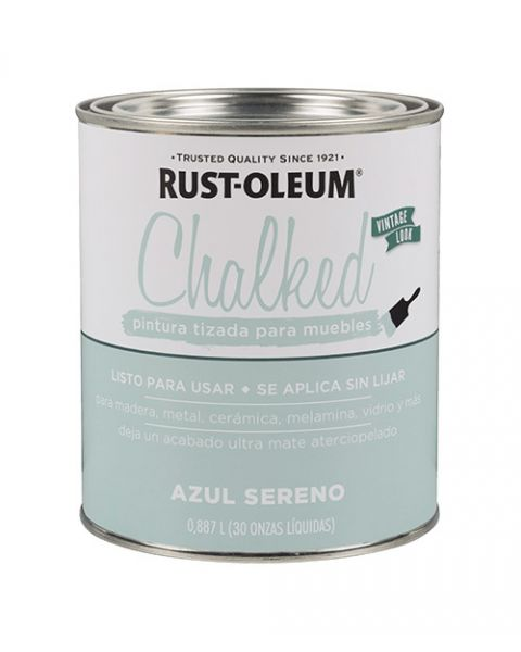 Rust-Oleum Chalked Brochable Azul Sereno 0,887 L